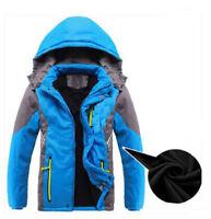 6830 Boys Winter Hood Fleece Jacket Kids Outdoor Waterproof Warm Fleece Coats