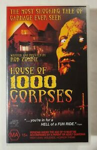House of 1000 Corpses VHS 2003 Horror Rob Zombie 2004 Universal / Lions Gate
