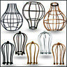 Custom vintage metal bulb guard light cage Wire frame loft ceiling pendant shade