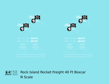 K4 N Decals Rock Island 40 Ft Boxcar White Rocket Freight