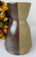 Yin & Yang STUDIO ART Pottery 1/2 Glazed Ceramic Stoneware Vase ~ SIGNED