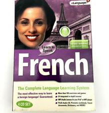eLanguage Learn To Speak French 4 CD Set - NEW