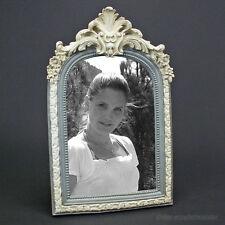 Barock Rokoko Bilderrahmen Fotorahmen Weiß Creme Beige Shabby Chic Stil Antik