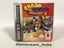 CRASH NITRO KART + SPYRO 2 SEASON OF FLAME - NINTENDO GAME BOY ADVANCE - NUOVO