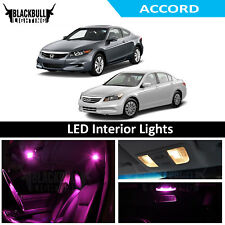 Pink LED Interior Lights Replacement Kit for 2003-2012 Honda Accord 12 bulbs