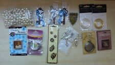 Lot of 14 jewelry findings pieces charms accessories, Tim Holtz pocket watch etc
