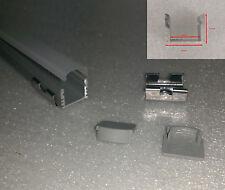 Alu Profil für LED Streifen 1 Meter Länge, Satinierte Abdeckung, mit Zubehör