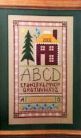 Cross Stitch Pattern SCHOOL HOUSE SAMPLER ABC Tree Stars House Alphabet