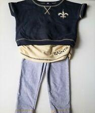 Girls NFL TEAM kids sweatshirt leggings skirt cheerleader outfit 4T SAINTS NOLA