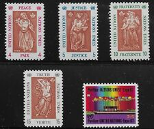 UN Scott #NY 170-74, Singles 1967 Complete Set FVF MNH