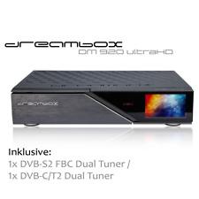 Dreambox DM920 UHD 4K mit 1x DVB-S2 FBC Dual Tuner / 1 x DVB-C/T2 Dual Tuner