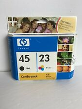 HP 45 / 23 COMBO-PACK BLACK & TRI-COLOR INK CARTRIDGES, EXPIRED 2007, NEW IN BOX