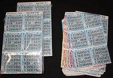 BINGO PAPER Cards Kit A, 6 on 5 up BONUS LINE Blue rotation 50 packs  FREE SHIP