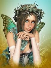 PAINTING CGI BUTTERFLY FAIRY GIRL FANTASY SURREAL POSTER PRINT BMP10435