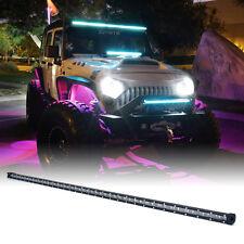 "Xprite C6 Series 240W 50"" Single Row LED Spot Light Bar with Blue Back Light"