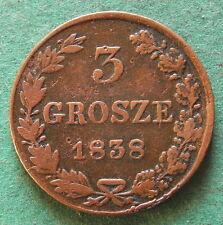 Polen russisch 3 Grosze 1838 selten nswleipzig