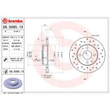 Disco freno (2 pezzi) BREMBO XTRA Line-BREMBO 08.5085.1x
