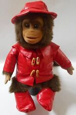 Hosung Monkey Puppet Plush Stuffed Squeaker COAT HAT BOOTS 1994 15""