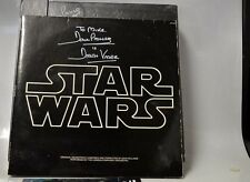 "Star Wars Trilogy ""The DF Laser Disc Box new signed by Darth Vader + SW soundtra"