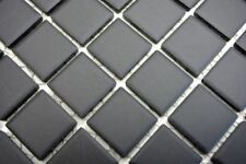 Mosaïque carrelage céramique noir non vitré cuisine mur 18B-0311-R10_b  1 plaque
