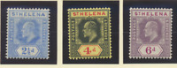 St. Helena Stamps Scott #56 To 58, Mint Hinged