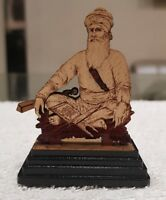 Sikh Baba Deep Singh Shaheed Ji Wood Carved Photo Portrait Sikh Desktop Stand C2