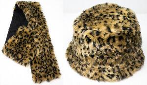 Brand New Thomas Calvi Faux Fur Hat & Scarf Set Great For Winter FREE P&P!!