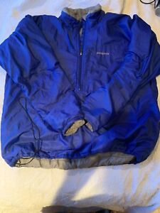 Vintage Patagonia Adult Large 1/2 Zip Insulated Pullover Jacket Blue