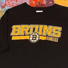 Boston Bruins T Shirt Mens Adult L XL Black NHL Hockey