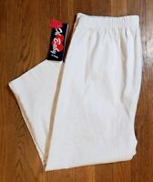OH BABY Womens White Stretch Jean Mid Calf Maternity Capris Size Large NWT
