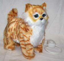 Tabby Orange Color Remote Control Moving & Meow Noise Kitten new fake pet cat