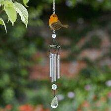More details for robin wind chime bird garden hanging musical sound decor outdoor aluminium gift