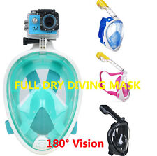 Diving Snorkel Mask Full Face Breathing Scuba Snorkeling Anti Fog Fr Swim GoPro