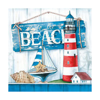 Ambiente 3 Ply Paper Napkins, To The Beach Summer Coast Seaside Serviettes Lunch