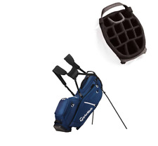 TaylorMade FLEXTECH Crossover Organiser Stand Bag in navy/white