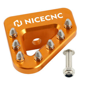 NiceCNC Wide Brake Pedal Plate For KTM 125 200 250 EXC EGS 300 380 MXC 625 SXC