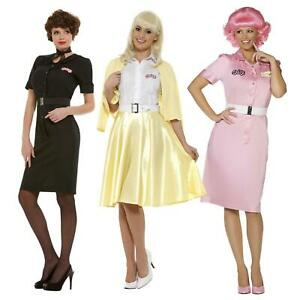 Official Ladies Girls Grease Classic 50s Fancy Dress Costume Sandy Rizzo Frenchy