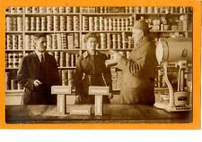 Real Photo Postcard RPPC - Grocery Store Interior with People Uneeda Biscuit