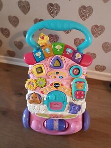 Fisher price pink baby walker, toy, learning