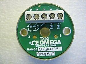 OMEGA Engineering TX92-3 Temperature Transmitter 0-300 F / 100 ohm