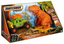 MATCHBOX DINO TRAPPER TRAILER PLAYSET LIGHTS & SOUNDS CDC71 *Nu*