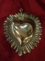 sacro cuore  Vintage ex voto barocco ReturnToBaroque fiamma 9x10cm