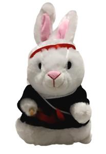 Gemmy Bunny Rabbit Kung Fu Fighting Singing Twirling Nunchucks Karate Motion