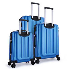 3 Pieces Travel Luggage Set Carry on Suitcase Spinner Rolling ABS Trolley Case