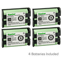 Kastar 4 Cordless Home Phone Rechargeable Battery for Panasonic HHR-P107 HHRP107