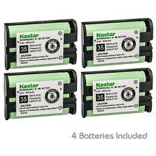 Kastar 4 Cordless Home Phone Rechargeable Battery for Panasonic HHR-P107 HHRP107