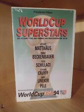 WorldCup USA94 WorldCup Superstars [VHS-Fussball-Video-Rarität] - Neu&Ovp!!!