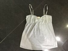 NWT Juicy Couture New & Gen. Ladies Small Pale Grey Cotton Sleep Top With Lace