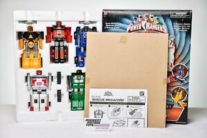 MMPR Power Rangers Turbo Rescue Megazord Deluxe Double Morphing Action