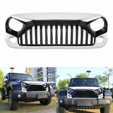 White&Black Grid Grille Front Grill Cover Guard For Jeep Wrangler JK 2007-2017